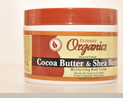 Organics – cocoa butter & Shea butter